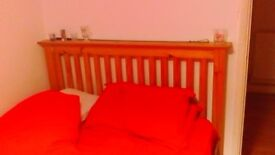 PINE DOUBLE BED ,,, NO MATTRESS