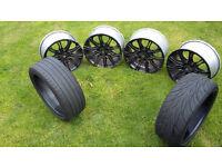 4 Genuine BMW alloys + 2 tyres