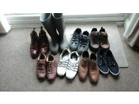 8 pairs of Mens shoes/boots size 10