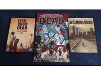 The walking dead, fear the walking dead 1st series DVDs & graphic novel.