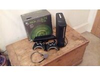 xbox kinect console, with two controllers and 23 games