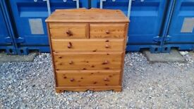 PINE CHEST OF DRAWERS 2 OVER 3