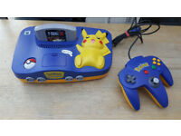 NINTENDO 64 CONSOLE Special Pokemon Pikachu Edition