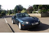 MX5 1.8 With Hard top & Soft top hood, Tonneau cover included. Full yrs m.o.t, Nardi steering wheel