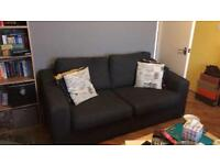 2 x charcoal 3 seater sofas