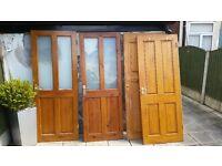 Oak internal Doors x 5 + 1 Modern door