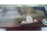 Reed diffuser and candle set.