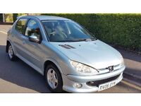 Lovely Peugeot 206 1.3cc For Sale,Mot,Good little car