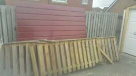 Free uplift garage door only, fence is gone..