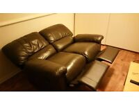 2 Seater brown leather sofa, good condition, very comfy!