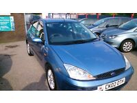 RARE 2002 FORD FOCUS 1.6 AUTO LX 5 DOOR IN BLUE JUNE MOT 95K WITH S/H T/BELT AT 82K CD E/W ALLOYS +
