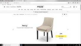 Made Faux Leather Percy Dining / Desk Chair