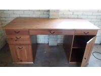 Ikea Traditional Style Office Desk, Bookcase/bureau and Filing Cabinet