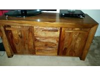 Kashmir Solid Wood Side Board Plus Free 2 Sets of 2 Side Tables