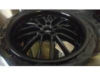 "Audi vw Mercedes 18"" black deep dish alloys"