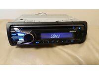 CAR HEAD UNIT SONY XPLOD CD MP3 PLAYER WITH USB AUX AND RCA 4 x 52 WATT STEREO AMPLIFIER RADIO