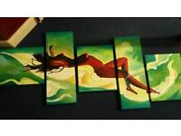 Oil painting 5 parts