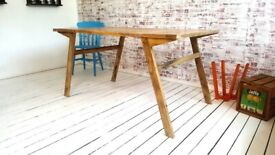 Mid-Century Modern Living Extending Table Coffee Table Desk Dining Table in One! Rustic