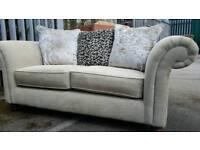 EX DISPLAY Designer Duresta Prestige Collection Beige Sofa DELIVERY AVAILABLE