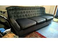 Blue Three-seater Sofa