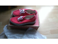 red size 11 vans mens excellent condition only worn once