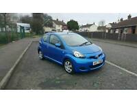 2010 TOYOTA AYGO BLUE AUTOMATIC 19000 MILES. FSH.