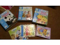 Little Touch LeapPad interactive book & cartridges x3. Infant/toddler age range