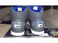 FILA high top trainers size 11