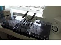 Technics SL1210 MK3D x 2, Tracktor Z2, Yamaha HS5 Active Speakers, Shure M447 Needles and Carts