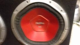 2 12in Sony Xplod 1200 watt subs w/ box £100 ONO