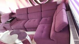 Desiner Modular Sofa Belluno in purple Gala Collezione