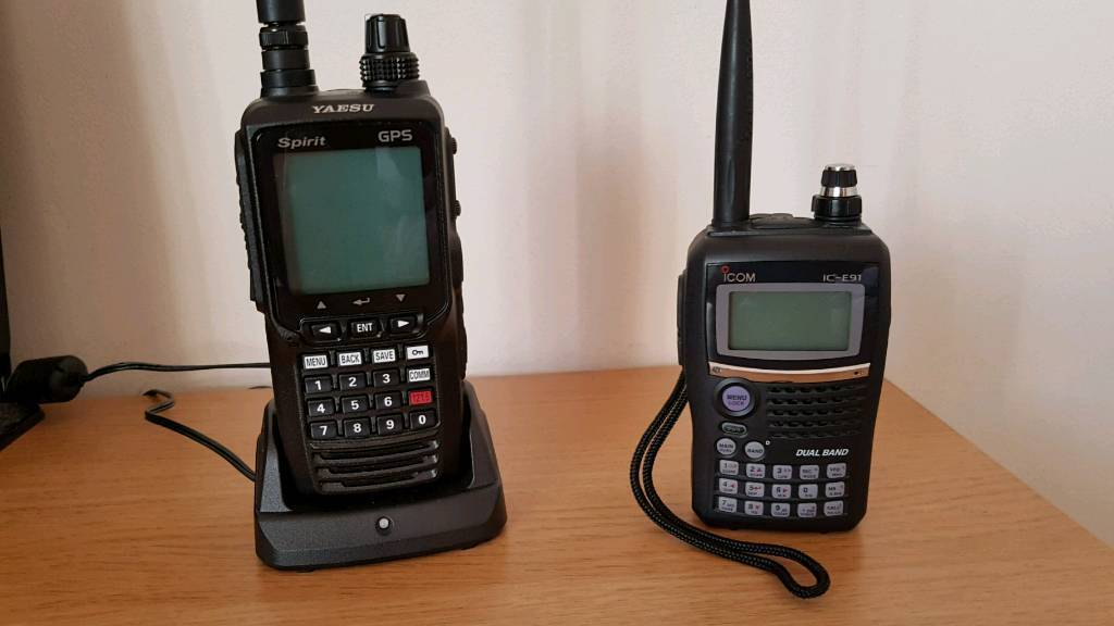 b74b92ad0f4 Yaesu FTA 750L airband tranceiver   Icom E91 2m 70cm handheld ...