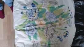 Floral floor length curtains x3 matching pairs