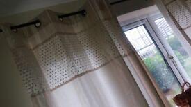 Curtains: 2 Full length curtains