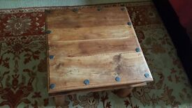 Low Wooden Ethnic Coffee Table