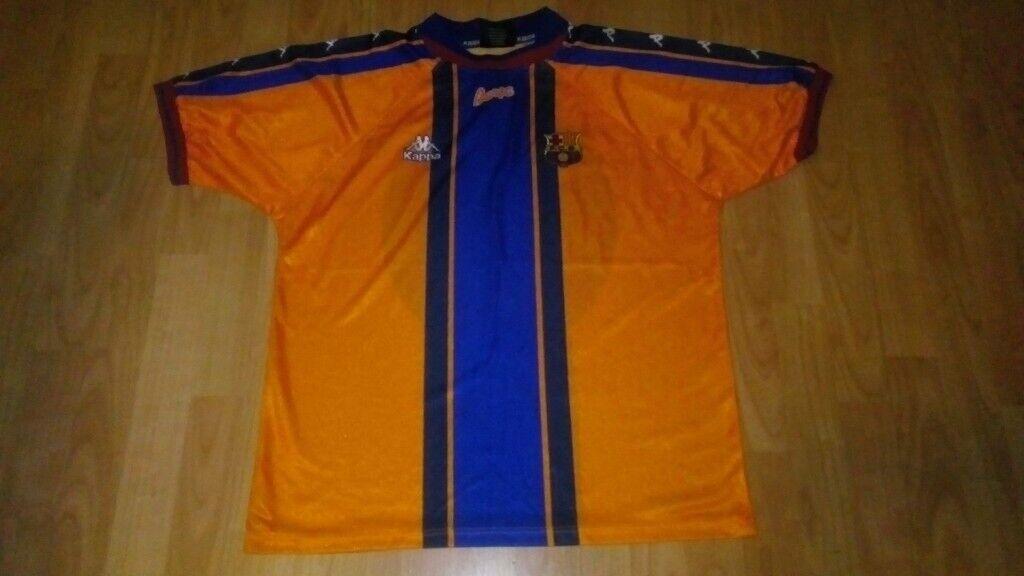the latest 02345 dd745 rare fc barcelona kappa away shirt 1996 away   in Chesterfield, Derbyshire    Gumtree