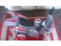 KIDS THREE WHEEL RECHARGEABLE MOTOR SCOOTER/CAR FOR SALE