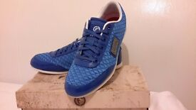 Mens blue Firetrap Dr Domello trainers blue lace size 7.5 As new in box. £25 (RRP £ 60 )