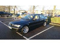 BMW 3 SERIES 318 2002 (02 reg) Saloon 71.000 miles Manual 2.0L 143 bhp Petrol METALLIC BLACK .