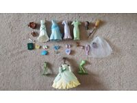 Princess and the frog ultimate Tiana dress up small doll and accessory set