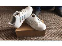 Adidas Gazelle and Adidas Superstar trainers