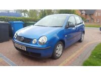 VW Polo, 1.2s, Blue, 5DR, MOT July, suspected timing chain failure, broken, repairable