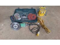 Hitachi G23SC2 230mm 2200w Angle Grinder plus Transformer & Extension Cable