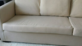 Almost new cream colour sofa comfortable 3 seater, hardly been used.