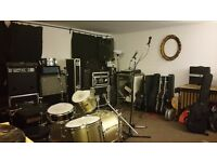 Monthly hire music production and rehearsal rooms for bands and producers BS2