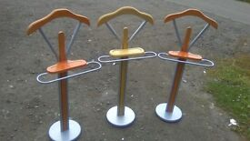 Uniquely shaped valet stands...choice of three