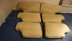 Multi York Duck Feather Sofa Large Back Cushions 'Belgravia' neutral removal clean calico underneath