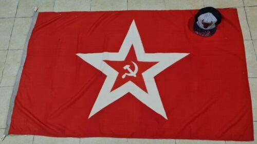 VTG Big 160x110cm Military Russian USSR Maritime navy RED FLAG jack 1990 ORIG!!!