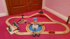 Disney cars wooden road.