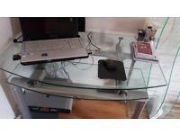 Beautiful Glass Computer Table